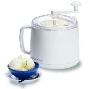 Donvier 837450 Manual Ice Cream Maker, 1-Quart