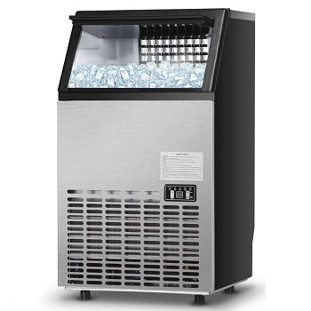 Costzon Commercial Ice Maker Built-In Stainless Steel Ice Make