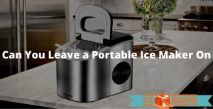 leaving portable ice maker on