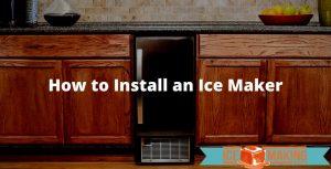 install an ice maker
