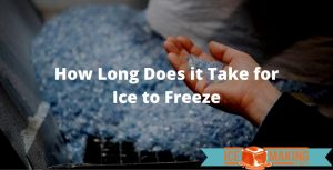 time for ice to freeze
